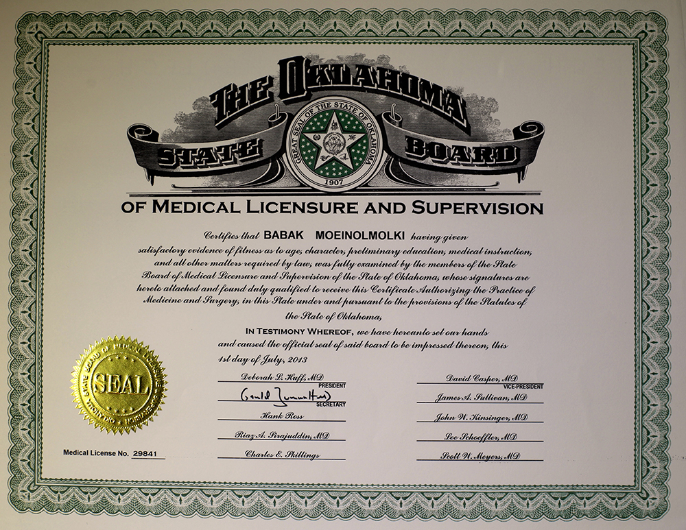 Medical Licensure and supervision